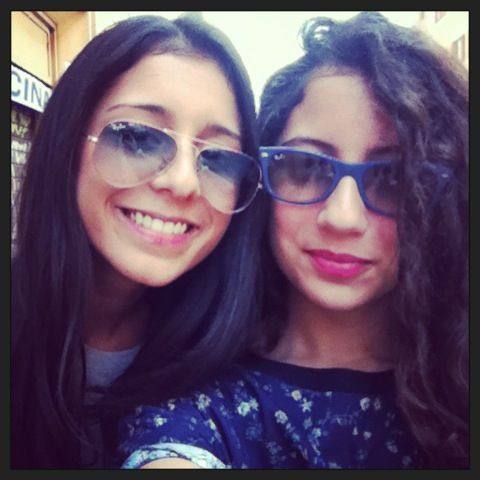 The sister and me!