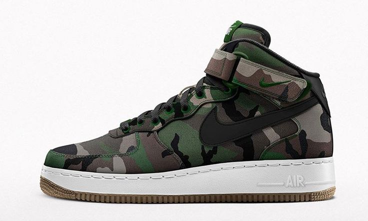 """NIKEiD Now Lets You Customize the Air Force 1 With """"Woodland Camo"""" & Velcro Woven Patches"""
