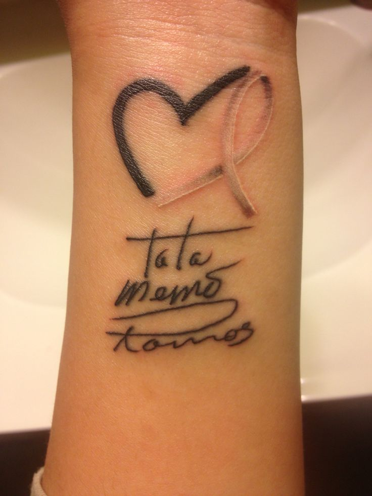 Lung cancer ribbon in a heart, with my Tata's name written in his own handwriting..