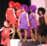 Seussical Theater Costume Rental | Theater Costume Rentals  Fringe dresses are cute for bird girls