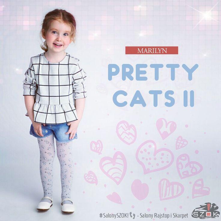 🔴 #Prześliczne #rajstopy dla #Młodych #Dam #Pretty #Cats II firmy #Marilyn z motywem w małe kotki! Dostępne w Naszych #SalonySZOK!👣 🐱💯