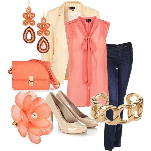 Spring outfit - first Polyvore experiment :)Mi Style, Outfit Sets, Celeb Style, Favorite Colors, Style Crushes, Spring Outfits