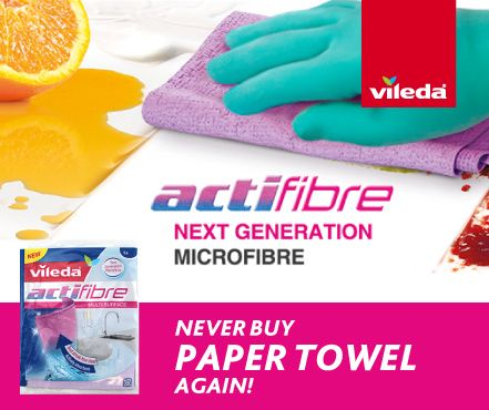 Next time there's a spill or accident, reach for a super absorbent Actifibre Cloth and save the environment whilst you're at it.