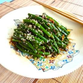Long Beans with Garlic, Ginger, and Black Bean Sauce Long Beans with Garlic…