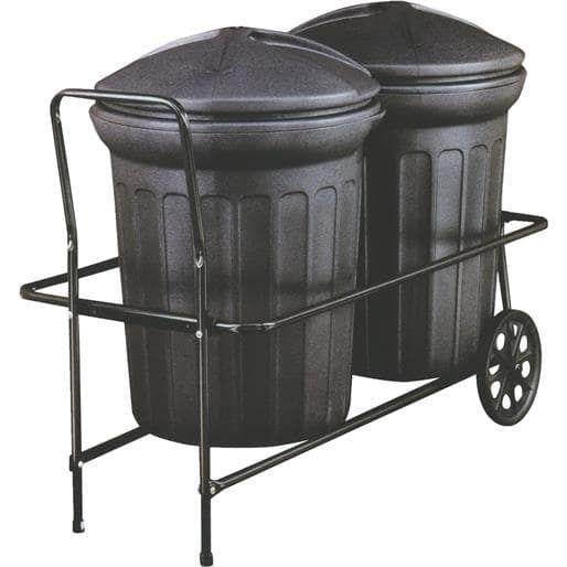 Behrens Trash Can Hand Cart TCC501 Unit: Each, Silver aluminum