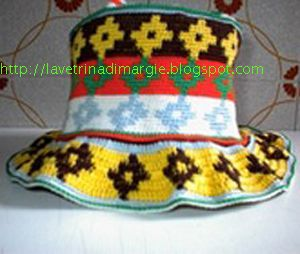 "hat ethnic cotton crocheted ""$ 30"""