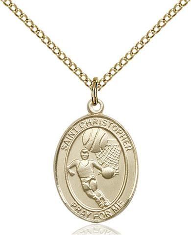 Bliss St Christopher Basketball Patron Saint Medal Pendant Necklace