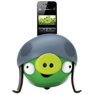 Angry Birds Speakers - Just don't try to catapult your iPod across the room!