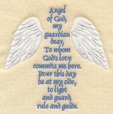 Guardian Angel Prayer ...I remember learning this prayer back in first or second grade.  The nuns would always tell us to move over in our little chairs and make enough room for our Guardian Angel to be able to sit right next to us there. ♥