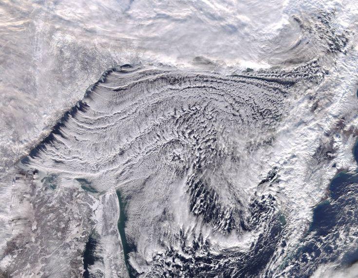 Wolkenstraßen über dem Pazifik - Satellitenbild der Woche - SPIEGEL ONLINE
