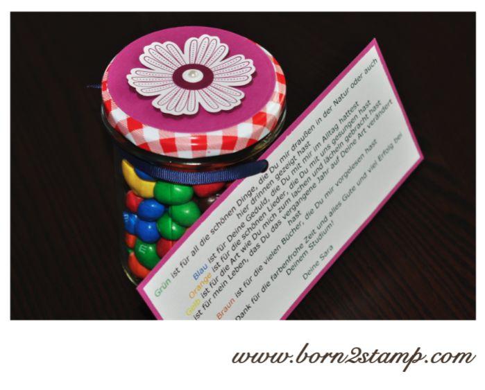 Stampin UP! Abschiesgeschenk für Kindergarten Erzieherin