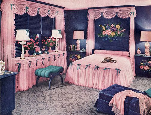 50 s bedroom   50 s   Le petit  cho de montmartre  par La vie. 17 Best images about 1950s bedroom   pink on Pinterest   1950s