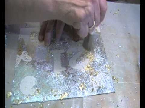 Bling on a Budget using Gilding Flakes and self Adhesive part 1 of 2.wmv