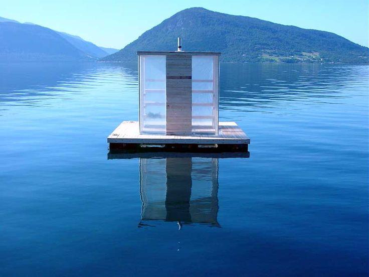Floating Sauna by RINTALA EGGERTSSON ARCHITECTS | Bergen,Norway  #rintalaeggertssonarchitects  #bergen  #norway