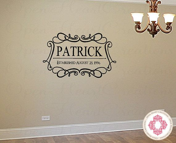 Best Window Shopping Images On Pinterest Window Shopping - Family monogram wall decals