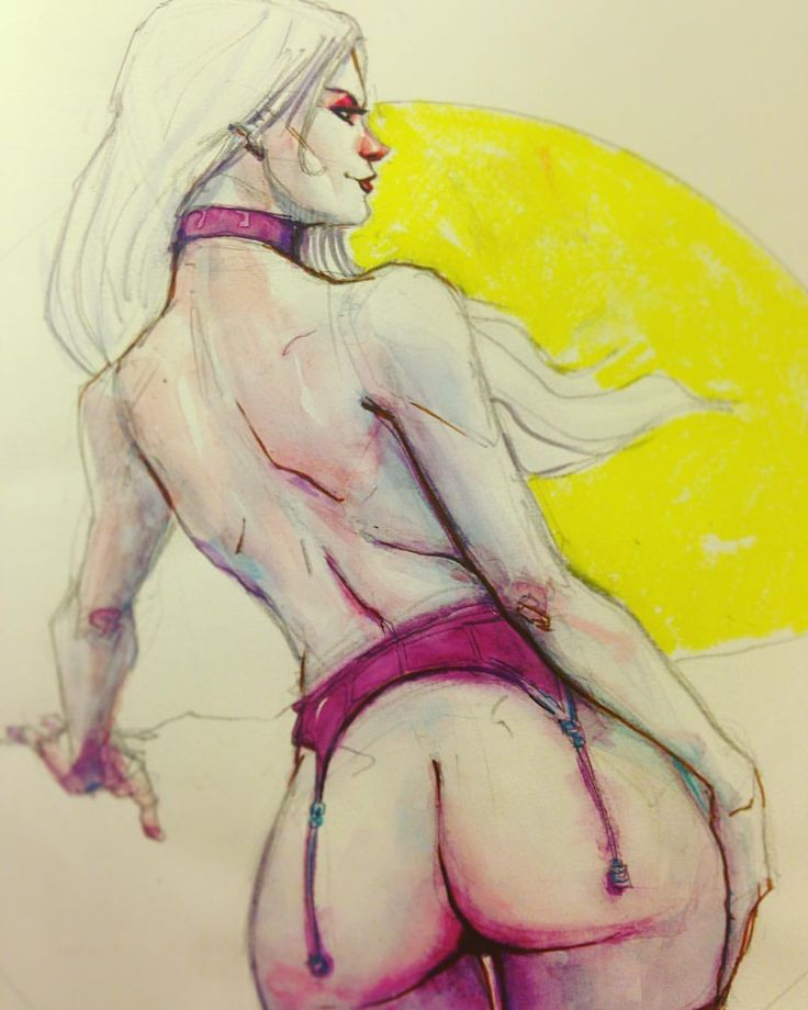 iambrao: Gotta finish this up some other time. Go to brao.art.br for my books and prints. Link in profile  #pinup #sketchbook #watercolor #badwömen #lingerie