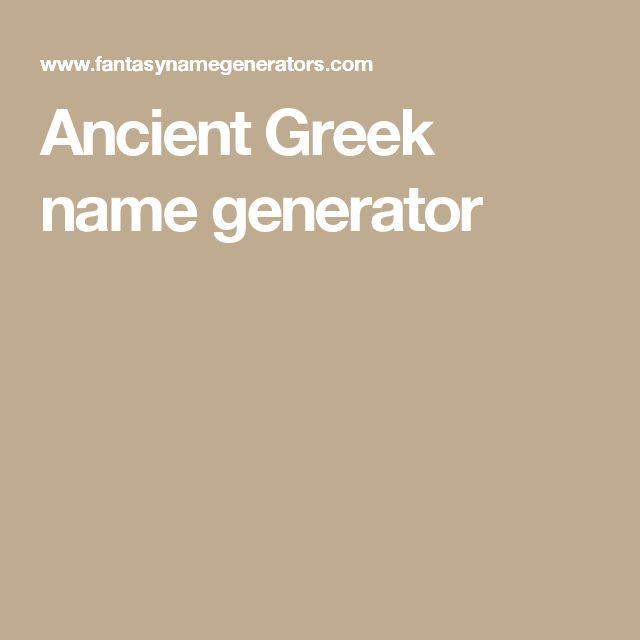 Ancient Greek name generator