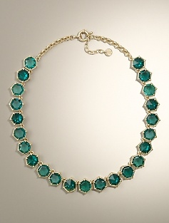 Honeycomb Jewel Necklace - Talbots #repintowinyorkdale