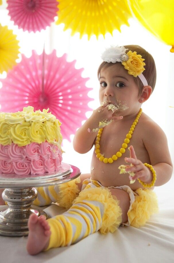 My daughter Mila's you are my sunshine 1st birthday party smash cake shoot