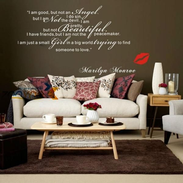 I Am Good But Not An Angel home decor wall stickers Marilyn Monroe