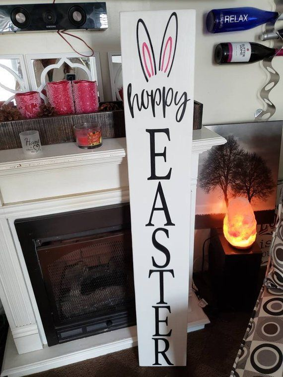 Pin By Josephine On Easter In 2020 Porch Signs Spring Decor Easter Signs