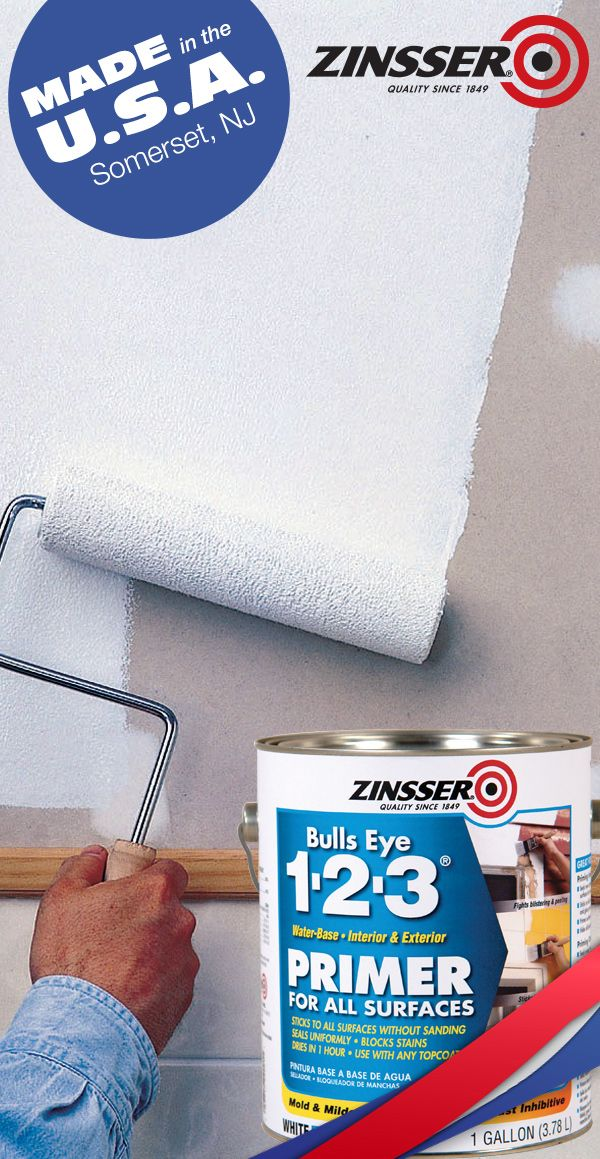 Designed for interior and exterior applications zinsser bulls eye 1 2 3 primer is perfect for - Zinsser exterior paint pict ...