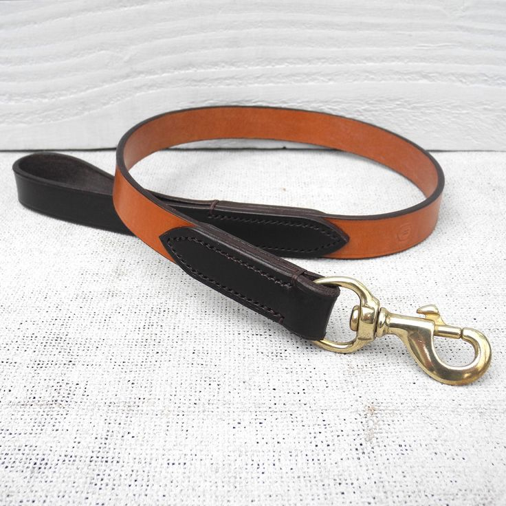 Twin Bridle Leather Personalised Dog Collar (Tan & Havana)