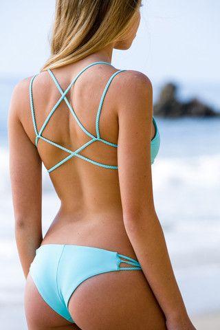 Swim suit, summer fashion, blue colour, Frankie's Bikinis 2014