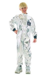 Silver Spaceman Astronaut Children's Fancy Dress Costume 4-11 Years | eBay
