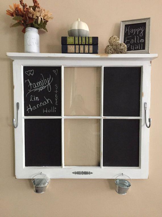 Sale Window Pane Wall Decor Chalkboard by HarleysHandcrafted1