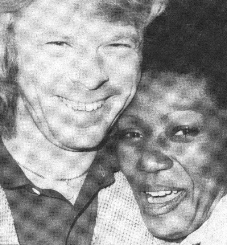 Free ABBA time: Bjorn with Boney M's Liz Mitchell in 1979