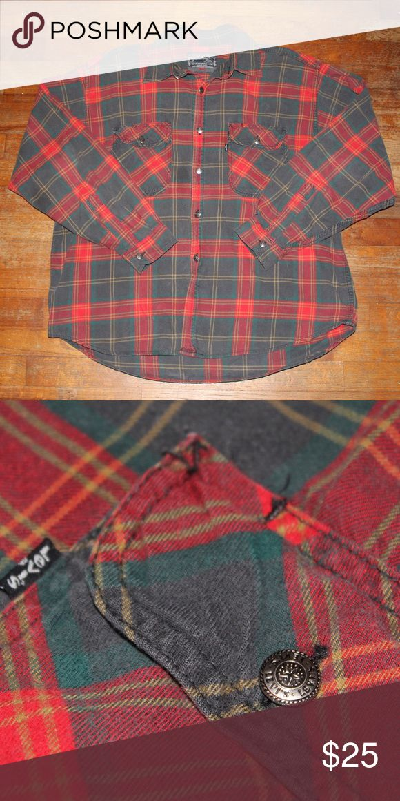 Vintage Levi's Plaid Flannel Great condition 8/10 for age and wear   Tag is size Large, but it fits like a medium  All sales final. Please contact with any questions or offers! Levi's Shirts Casual Button Down Shirts