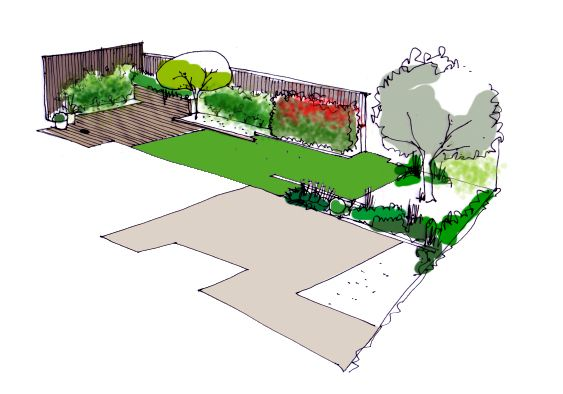 Dise o de jard n para vivienda dise o reformas jardines for Planos de jardines