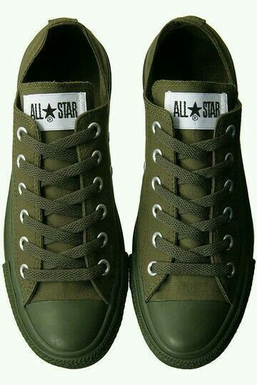 Army green Converse.