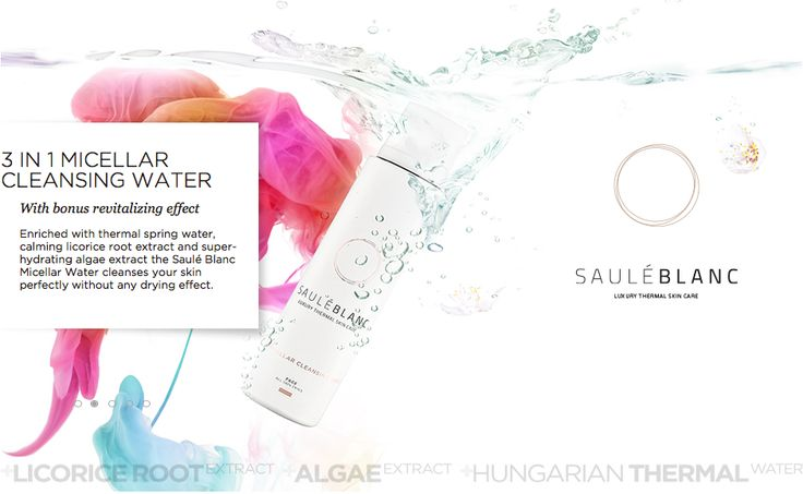 SB 3 in 1 Micellar Cleansing Water. Removes makeup, cleanses and moisturizes. SHOP ONLINE: https://sauleblanc.com/3-in-1-micellar-cleansing-water