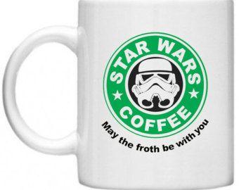 Comical Mugs, Star Wars Starbucks Style, Funny Mugs Comical Mugs, Quirky Mugs 11oz Mug / Cup Gifts For Him, Gifts For Her, Secret Santa