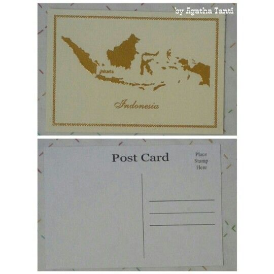 #ODOPDay25 Tema : Country - Very Simple Indonesia Postcard