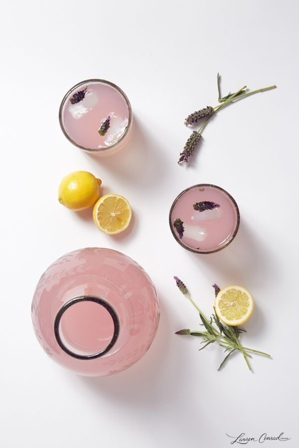 Lovely Libations: Infused Lemonade Two Ways - Rose or Lavender @Kate Mazur Lynn