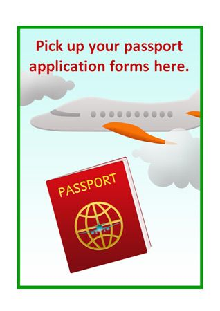 Post Office Roleplay Poster - Passport Application...editable passport poster, part of our post office role play series.