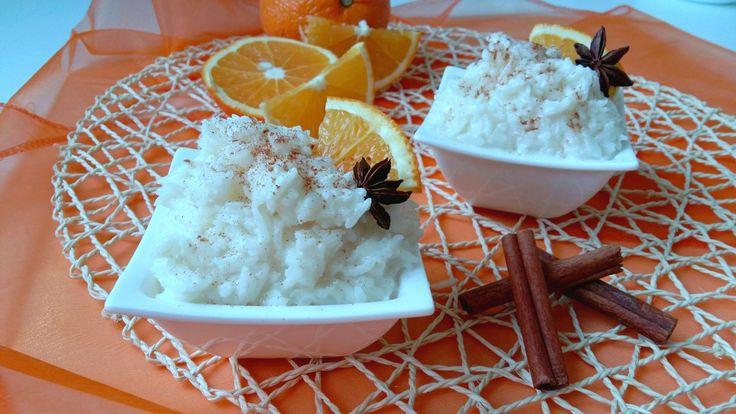 Kokosovo-pomerančová mléčná rýže (z kokosového mléka)