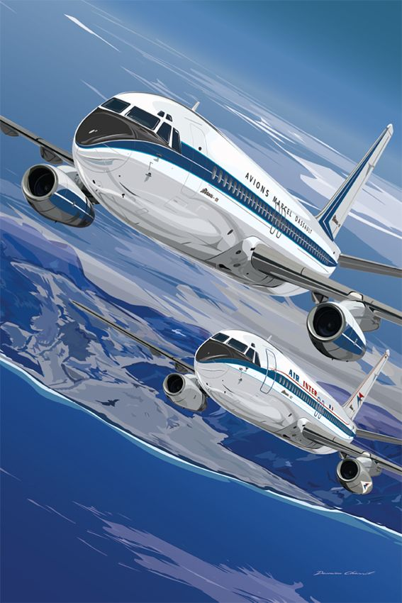 Mercure #1 Dassault et Mercure #2 Air Inter