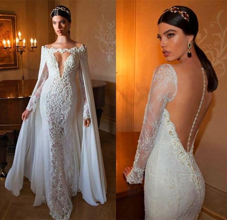 Charming 2015 Open Back Vintage Lace Wedding Dresses Sweetheart Applique Beads Chiffon Sexy Sheer Court Train Mermaid Bridal Gown Dress Wedding Dresses Wholesale Ball Gowns Wedding Dresses From Jialinna, $161.81| Dhgate.Com