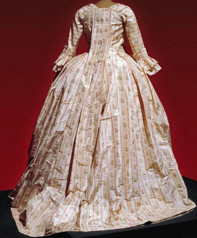 Robe a la Francaise, 1776, France, silk.|Les Belles de Mai.: Deux siècles de mode à Marseille