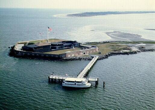 Fort Sumter.  Enter for free at Visitors Station, Ferry to Fort Sumter $17 adults, $10 kids