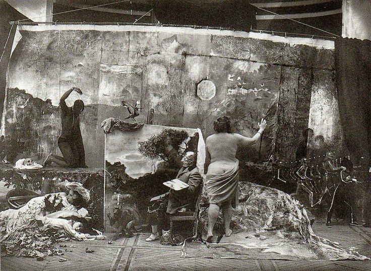Studio of the painter Courbet, Paris 1990. Joel-Peter Witkin