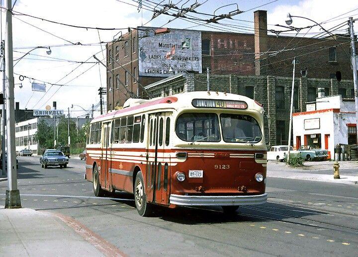 TTC TORONTO  Brill  Trolley  Coach  on 40 Junction  line.