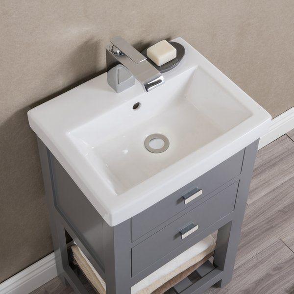 Knighten 17 Single Bathroom Vanity Set With Images Single