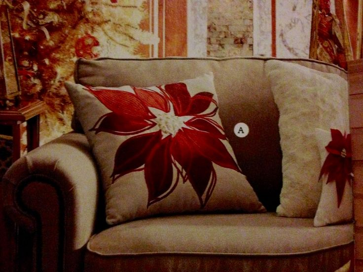 Pier 1 decorative Poinsettia pillow  (from catalog)