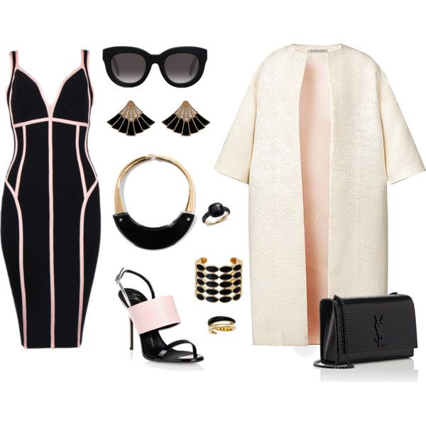 How to...Chic winter look black and pink by vicky-angelidou-pappas on Polyvore featuring Esme Vie, Giuseppe Zanotti, Yves Saint Laurent, Pomellato, Marni, House of Harlow 1960, Michael Kors and Muse