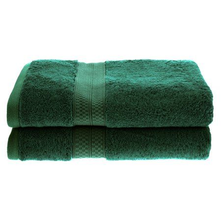 Superior 650GSM Rayon From Bamboo 2-Piece Bath Towel Set, Green